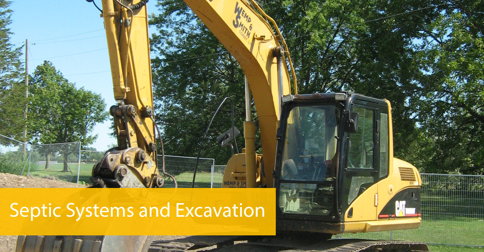 Septic Systems and Excavation - equipment